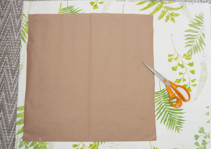DIY interiors How to make a botanical cushion template