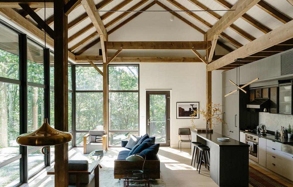 Una casa passiva con granaio del 19 secolo sauna e casa sull albero blog di arredamento e for Costruire una sauna in casa