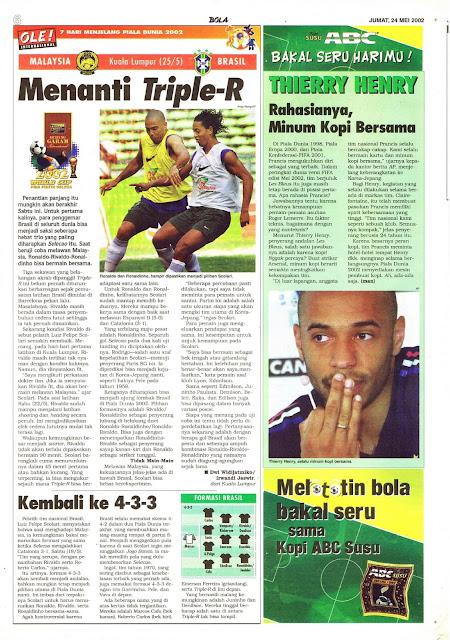 MALAYSIA VS BRASIL MENANTI TRIPLE-R
