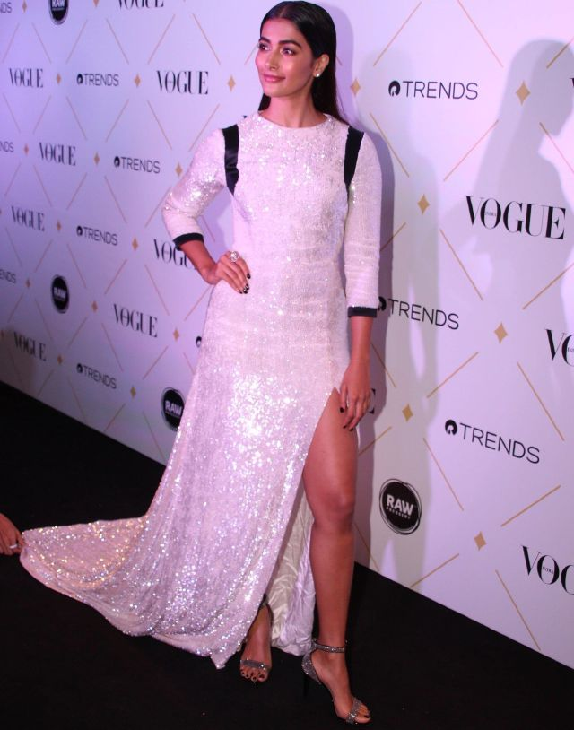Pooja Hedge At Vogue Beauty Awards 2017 In White Dress