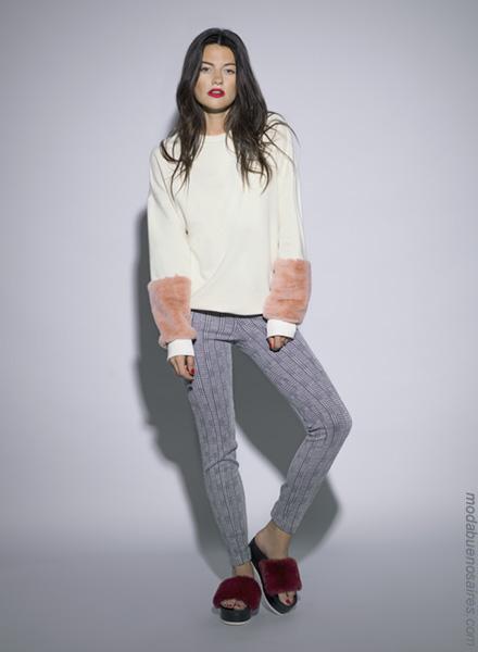 Moda otoño invierno 2018 ropa de mujer. Moda sweaters invierno 2018.