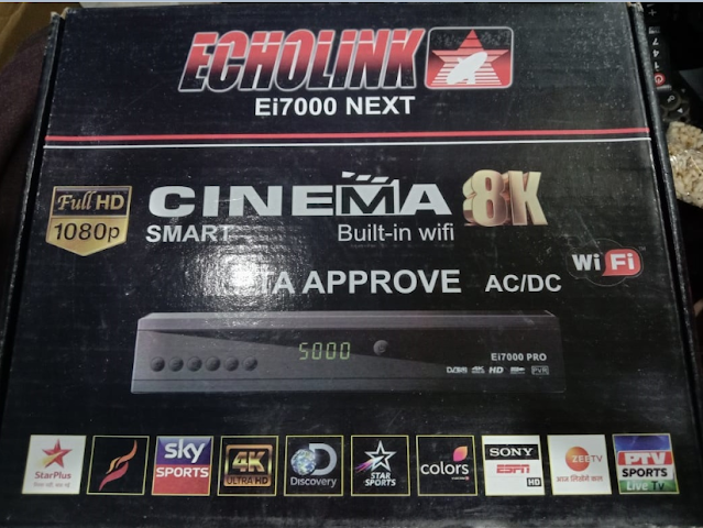 ECHOLINK Ei7000 NEXT 1506LV NEW SOFTWARE WITH YOUTUBE & DOLBY SOUND OK