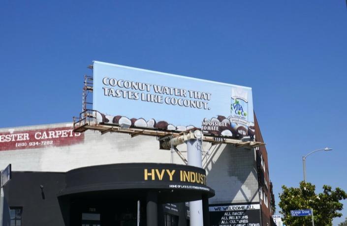 Coconut Water Vita Coco billboard