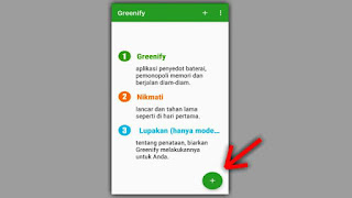 cara menggunakan greenify