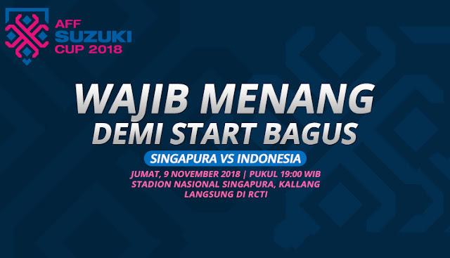 PREDIKSI Singapura vs Indonesia: Meraih Kemenangan Wajib Demi Permulaan Bagus