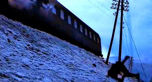 skok z pociągu