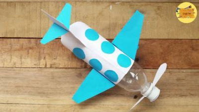 Cara Membuat Pesawat dari Botol Aqua atau Pocari Buat Pajangan