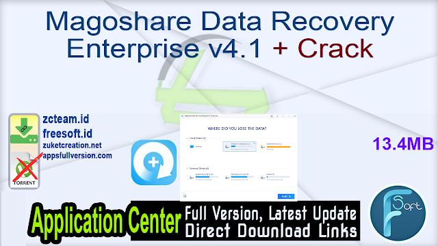 Magoshare Data Recovery Enterprise v4.1 + Crack