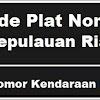 Kode Plat Nomor Kendaraan Kepulauan Riau