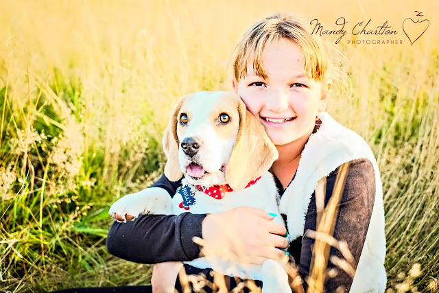 girl, beagle, dog, family portrait, newcastle photographer, mandy charlton