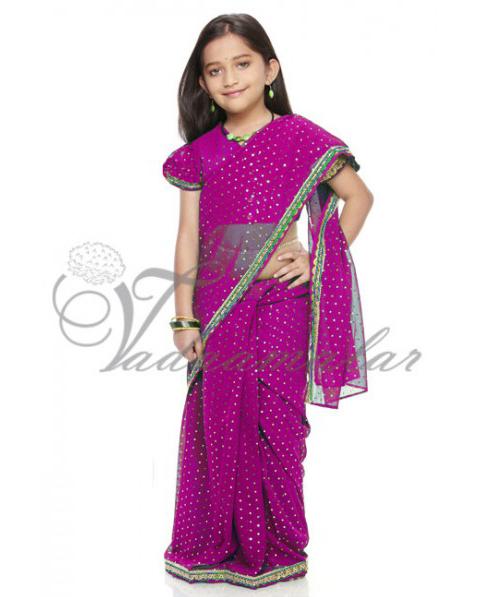 baju sari india anak perempuan