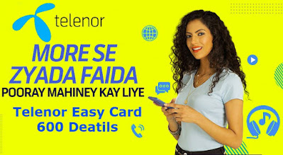 Telenor Easy Card 600 Detail Monthly Package