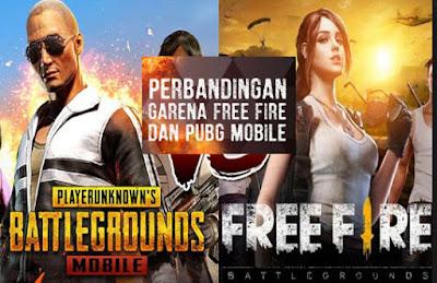 Mau Tau Perbedaan Game Pubg Dengan Free Fire