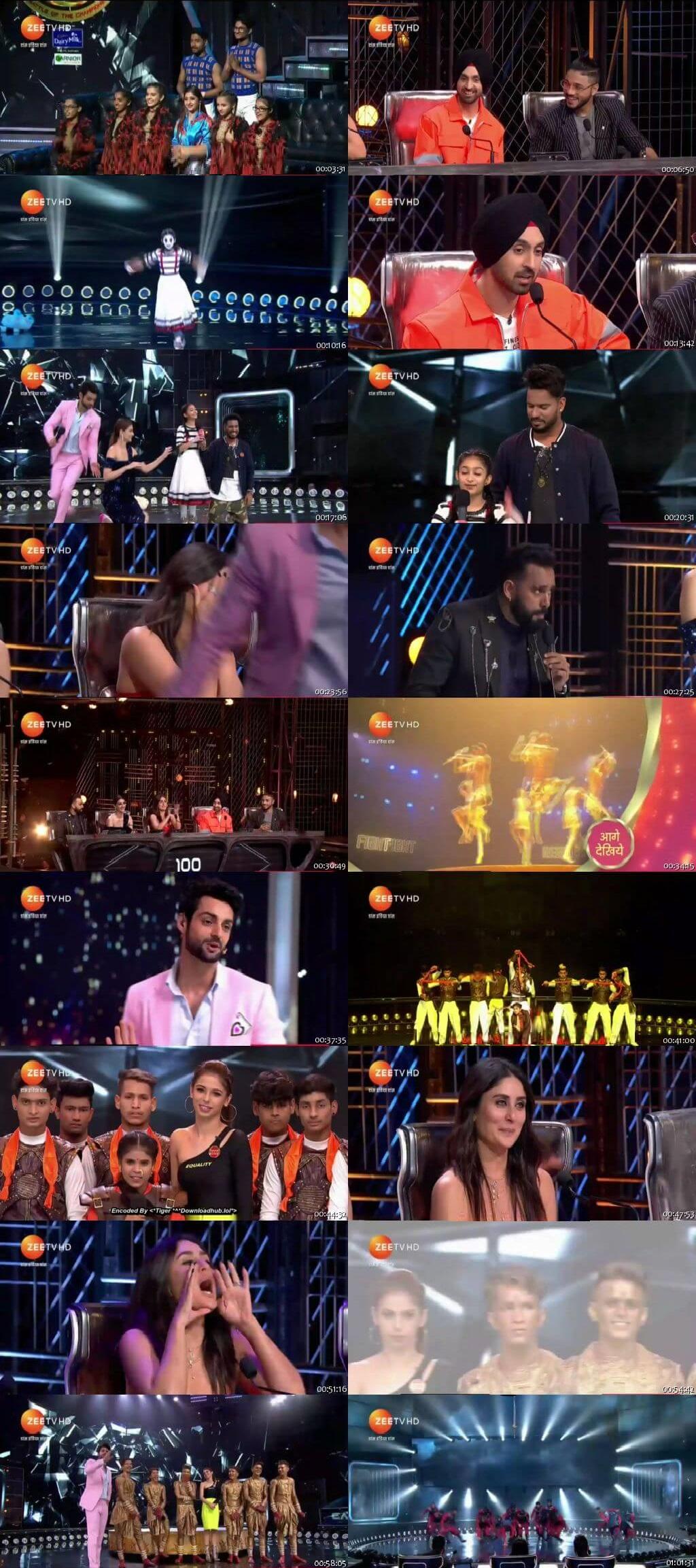 Screenshots Of Hindi Show Dance India Dance Battle of the Champions Season 7 20th July 2019 Episode 09 300MB 480P HD
