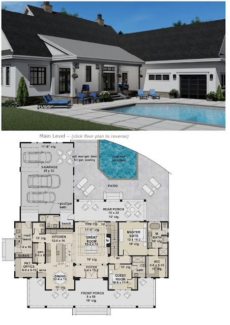 silverbell ranch house plan with 4 bedrooms 4 full baths