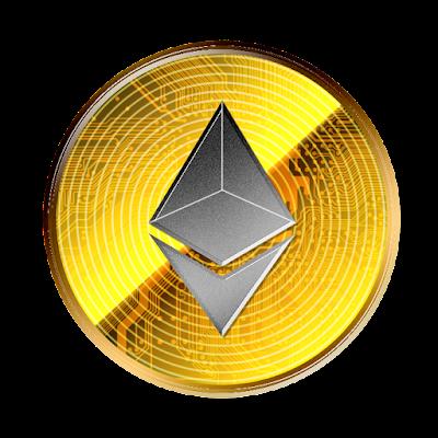 仮想通貨イーサリアムのフリー素材(金貨グレーver)