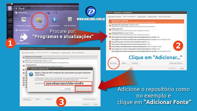 Adicionando o repositório do OBS no Ubuntu