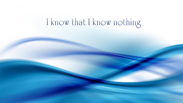 I know that I know nothing HD wallpaper - blue waves