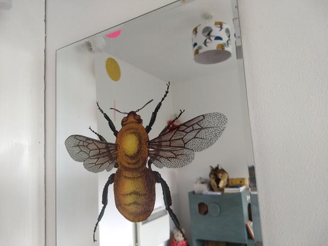 Vintage bee mirror