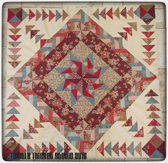 Thistle Thicket Studio, medallion quilt, flying geese, quilt guild challenge