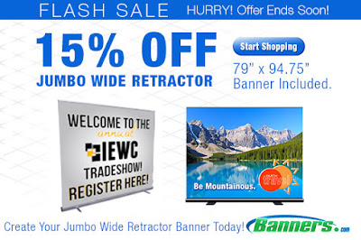 15% off the Jumbo Wide Retractor through 8/6/16 | Banners.com