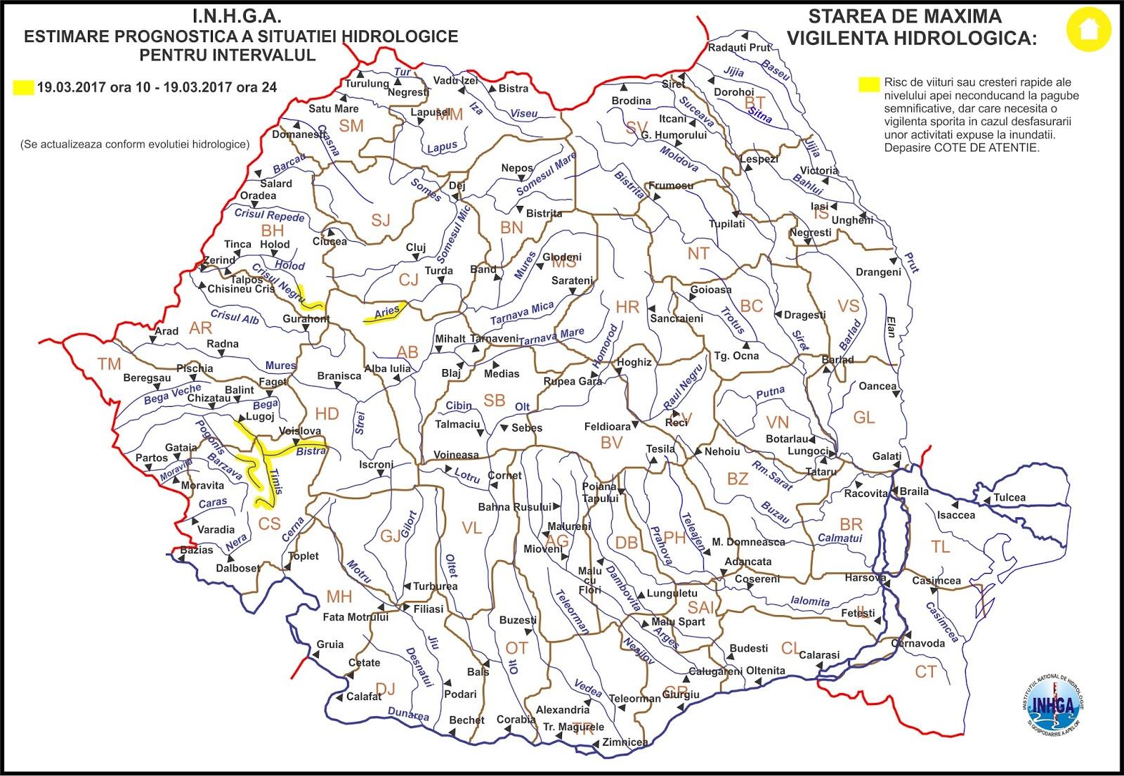 Feroviarii Harta Hidrologica Romania