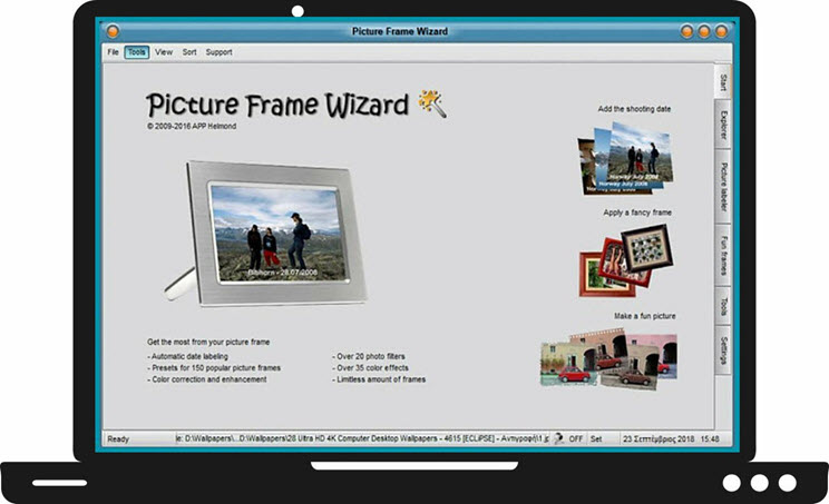 PictureFrame Wizard : Προσθέστε μοναδικά πλαίσια και εφέ στις φωτογραφίες σας