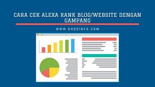 Cara Cek Alexa Rank Blog/Website Dengan Gampang Dan Mudah
