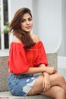 Rhea Chakraborty in Red Crop Top and Denim Shorts Spicy Pics ~  Exclusive 024.JPG