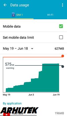Cara Melihat Penggunaan Data Harian, Mingguan dan Bulanan di hp Android