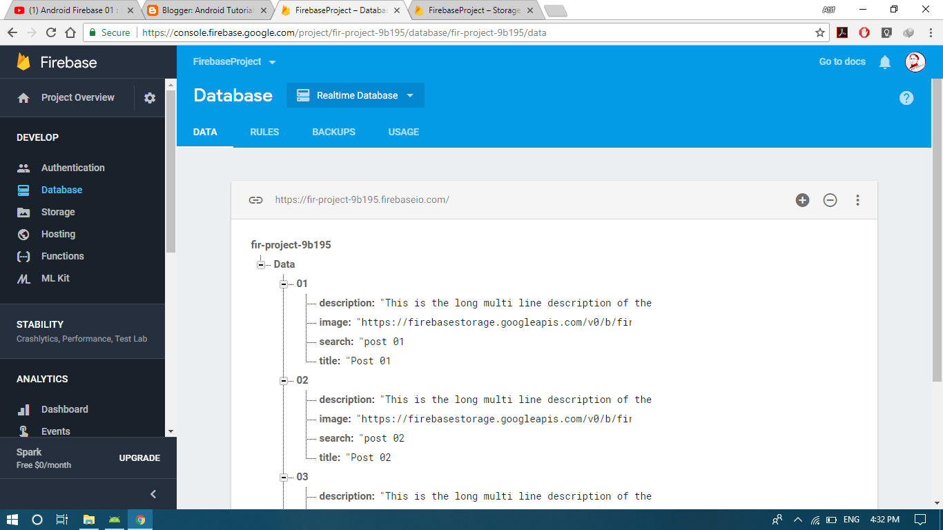 Firebase RecyclerView: Retrieve Images & Text, Implement