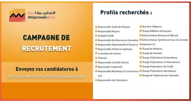 Recrutement Attijariwafa Bank Tchad