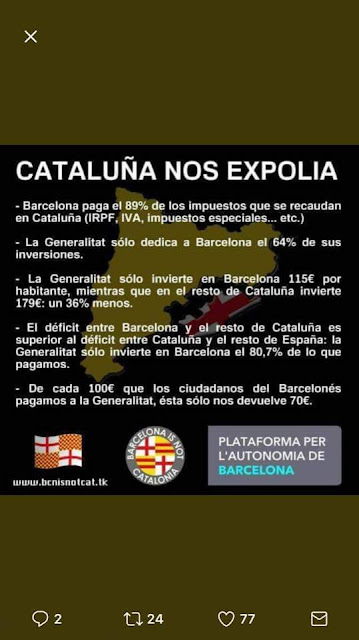 Plataforma per l'autonomia de Barcelona,Cataluña nos expolia