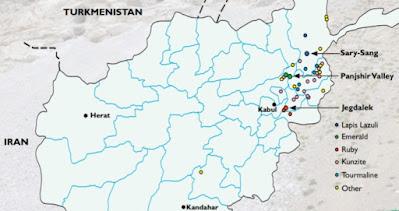 Afghanistan's main gemstones.