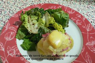 Vie quotidienne de FLaure: Pommes de terre farcies au bacon et gouda