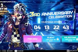 Apa Isi dari Web Event 3rd Anniversary Free Fire ?
