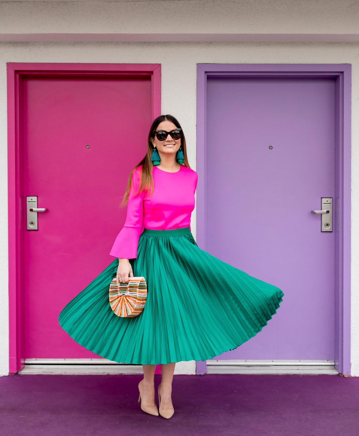WEAR GREEN AND PINK