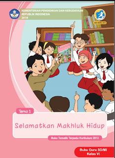 Buku Kelas 6 SD/MI K13 revisi 2018 terbaru