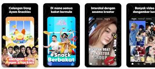 saldo ovo dan gopay gratis aplikasi snack video