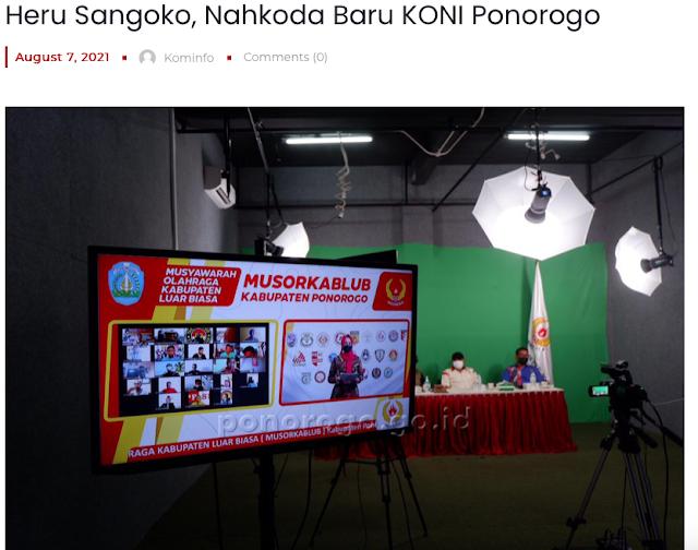 Heru Sangoko Nahkoda Baru KONI Ponorogo