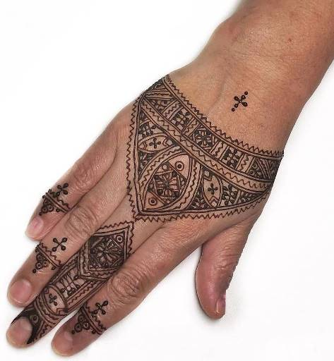Back Hand Easy Mehndi Design