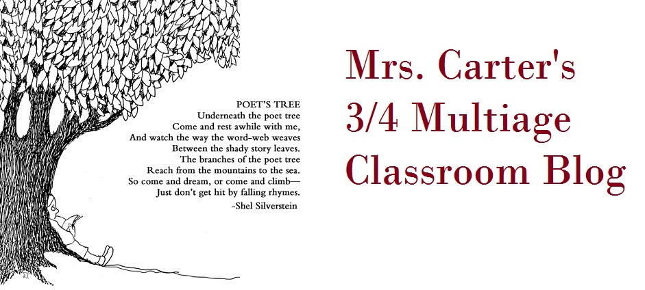 Mrs. Carter's 3/4 multiage Classroom Blog