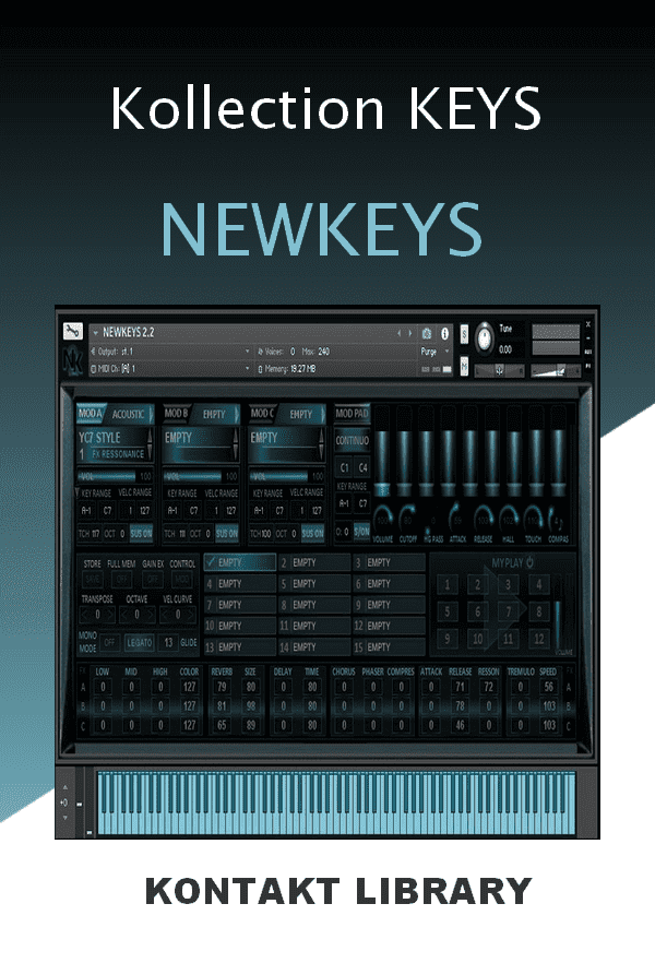 Kollection KEYS NEWKEYS KONTAKT Library