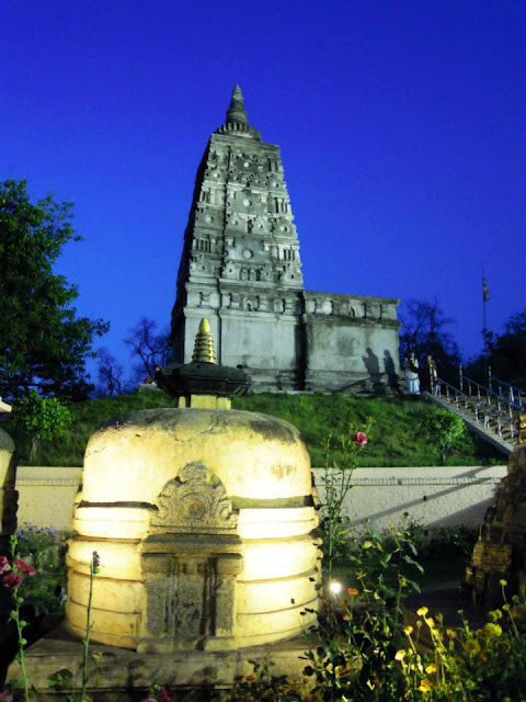 The Animesha Lochana Chaitya at the Mahabodhi Temple, Bodhgaya.