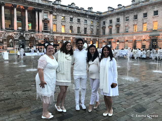 Dîner en Blanc: Somerset House, London 2017 Adventures of a London Kiwi