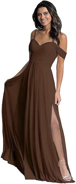 Chocolate Brown Chiffon Bridesmaid Dresses