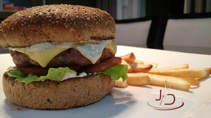 foto do hambúrguer de cordeiro