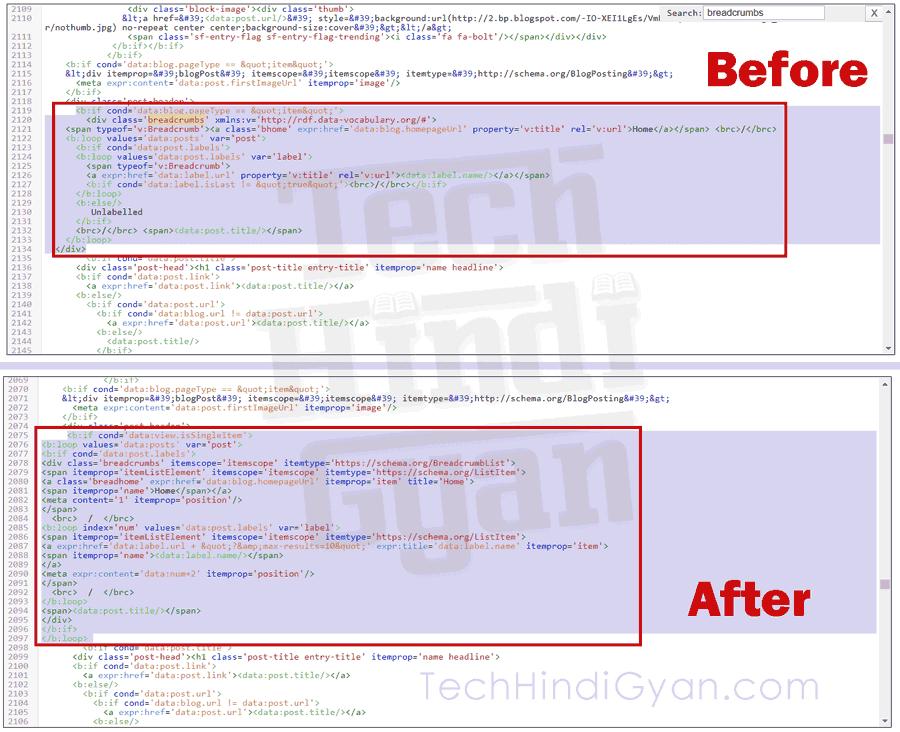 "How To Fix Breadcrumbs ""data-vocabulary.org Schema Deprecated"" Error in Hindi - ब्रीडक्रंब एरर को कैसे ठीक करें।"