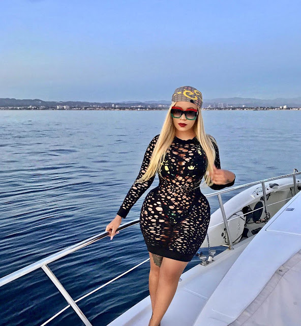 Vera Sidika flaunts banging bikini body as she cruises on a boat