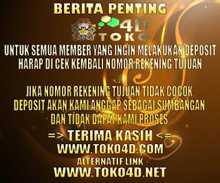 TOKO4D.NET AGEN TOGEL ONLINE DAN BOLA TERPERCAYA DI INDONESIA